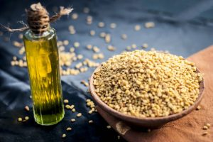 Fenugreek olive oil